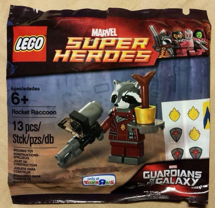 LEGO Guardians of The Galaxy Rocket Raccoon Minifigure Polybag 5002145 Toysrus