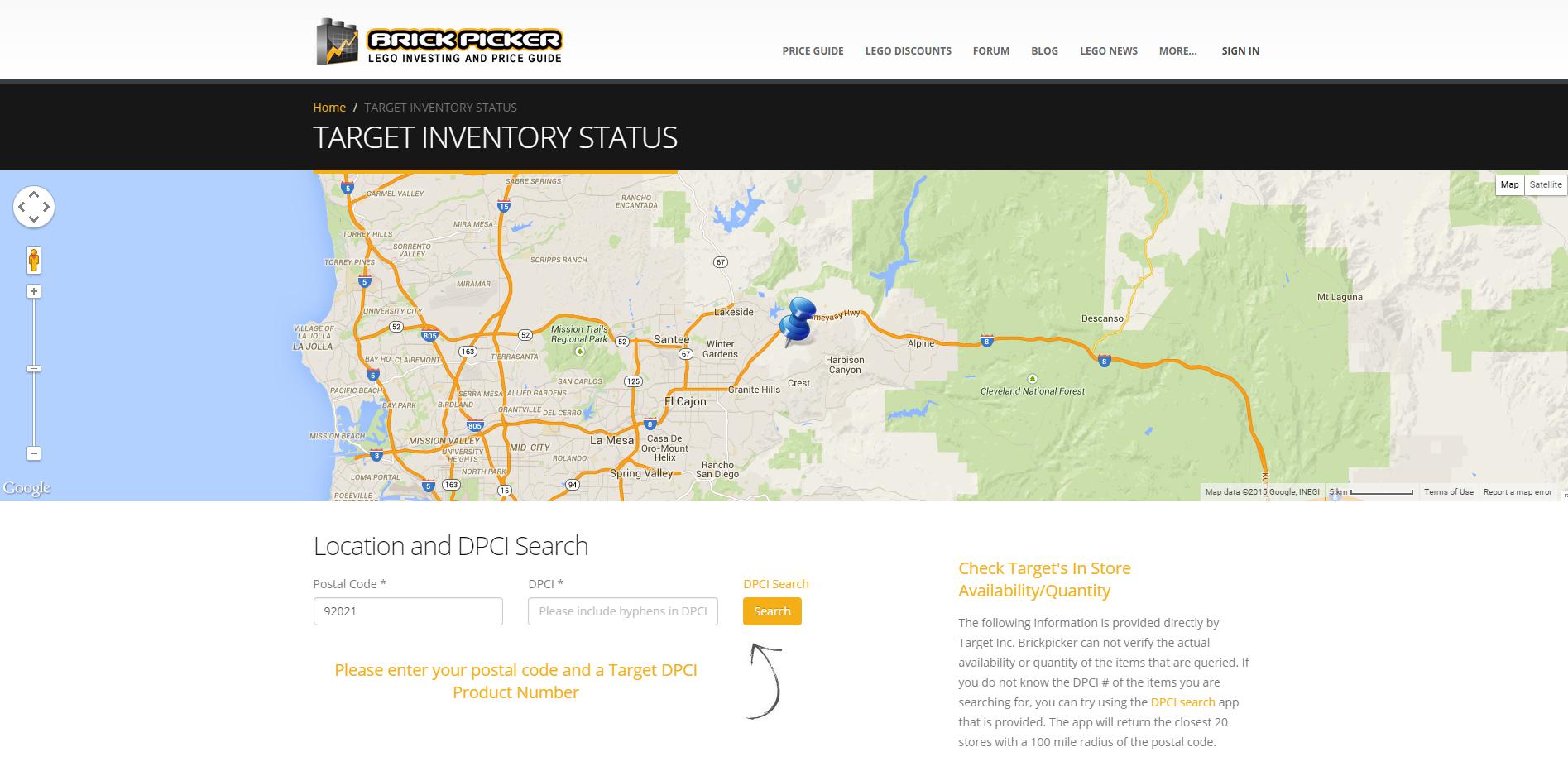 new target inventory tracker tool by brickpicker