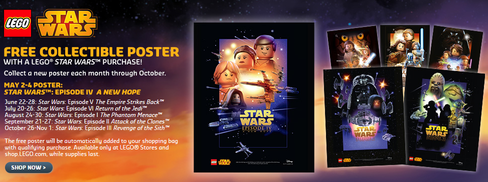 LEGO Star Wars Collectible Posters Release Schedule