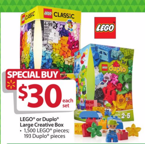 Lego Classic Large Creative Box 10697 Walmart Black Friday Deal