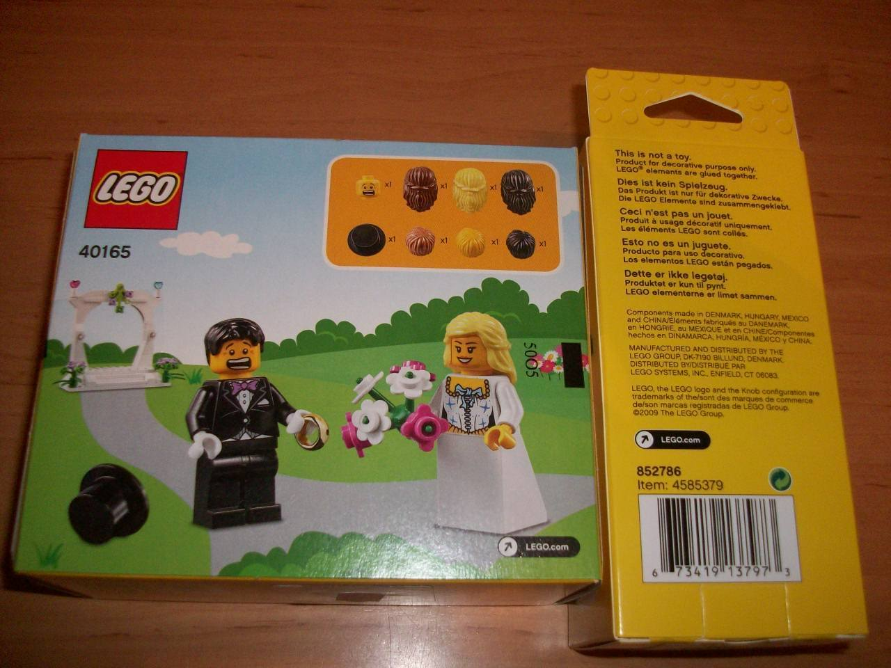 New Lego Minifigure Wedding Favor Set 40165 Found The