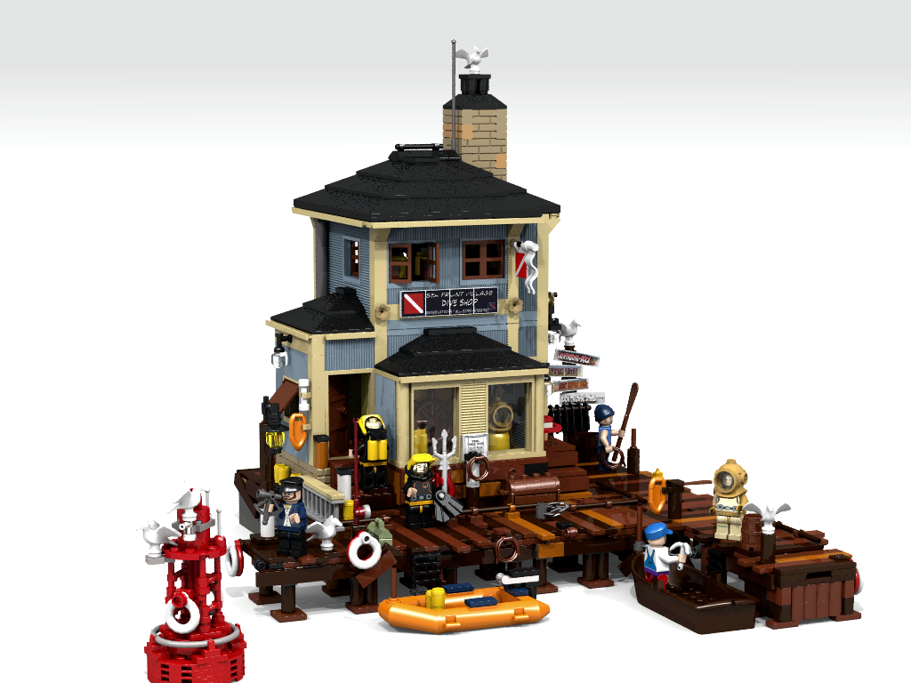 LEGO Ideas The Dive Shop Achieves 10,000 Supporters - The Brick Fan ...
