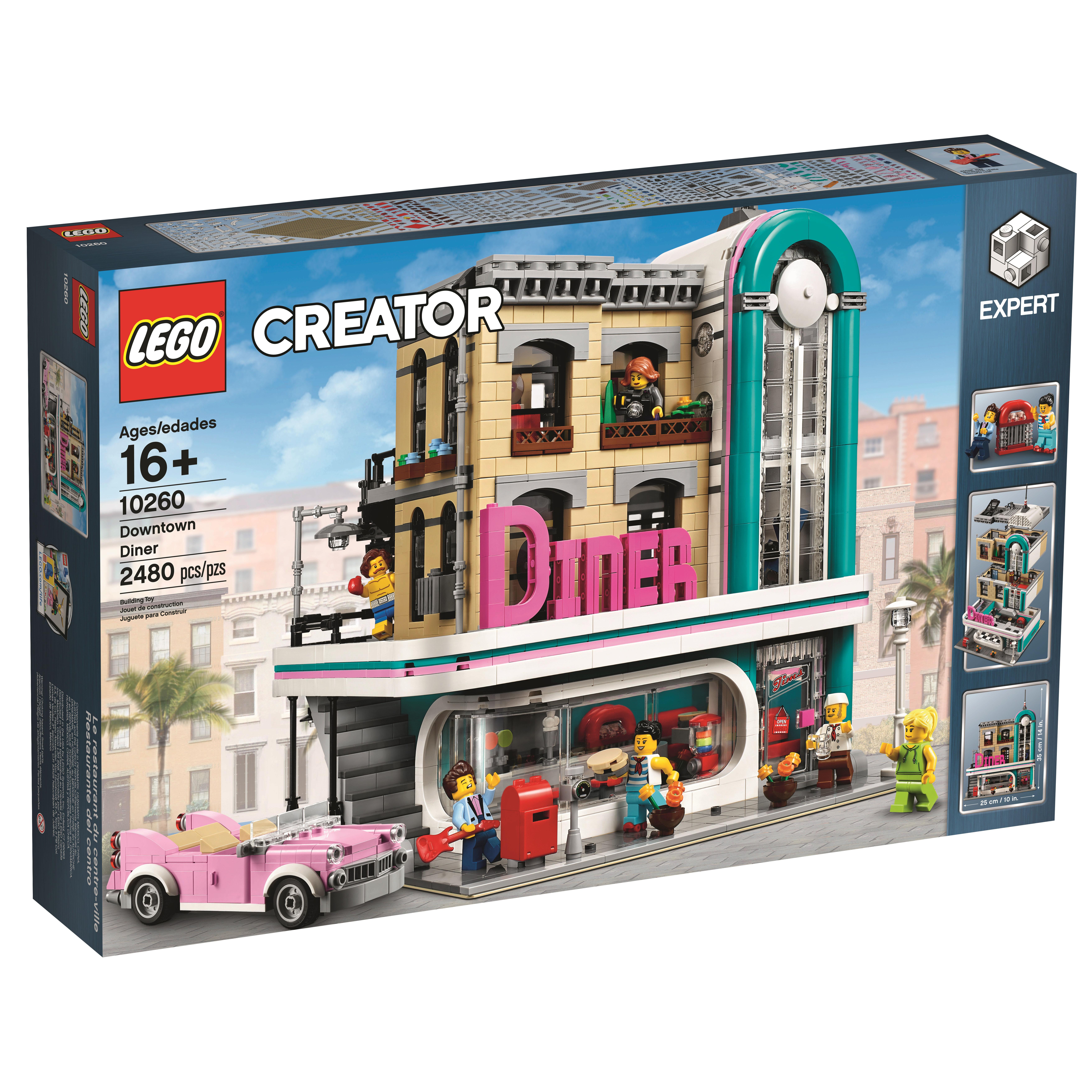 lego creator downtown diner 10260 officially revealed. Black Bedroom Furniture Sets. Home Design Ideas