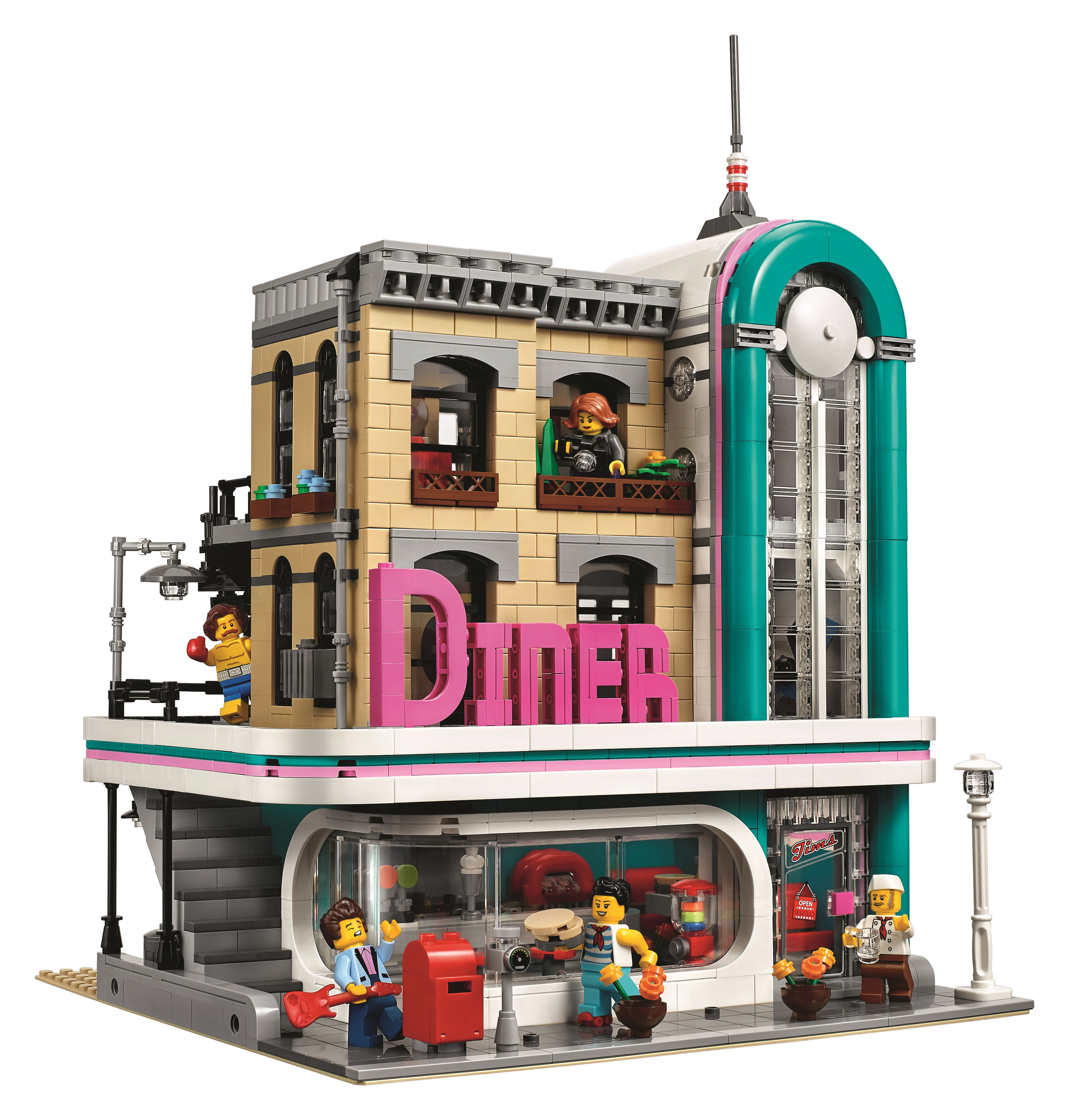 With The Lego Creator Expert Modular Building Series 10243 Parisian Restaurant 10246 Detectives Office 10251 Brick Bank And 10255 Assembly Square