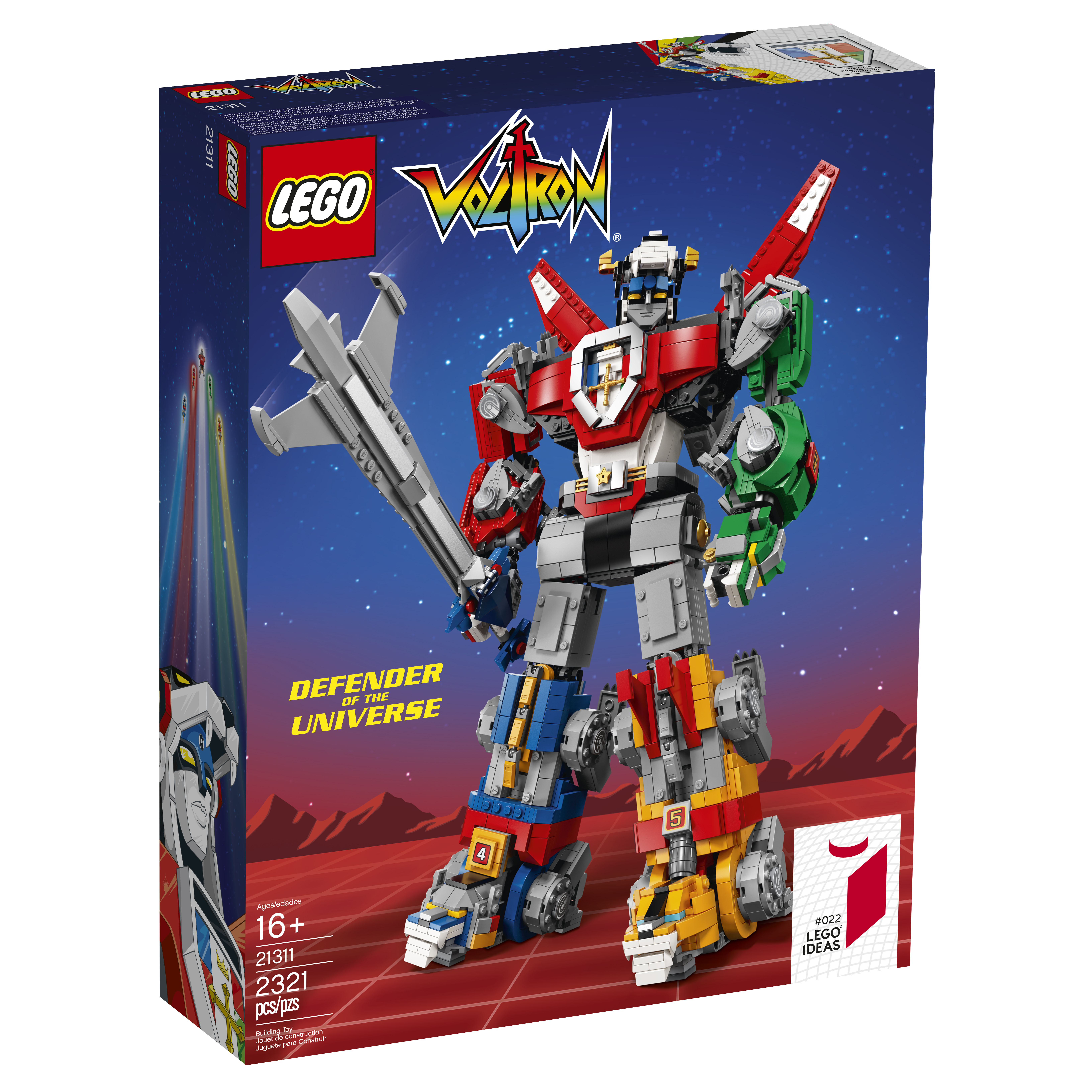 lego ideas voltron 21311 officially announced the. Black Bedroom Furniture Sets. Home Design Ideas