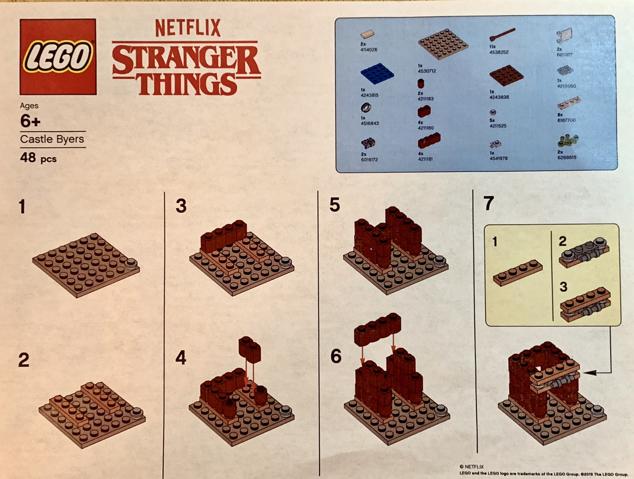 LEGO Stranger Things Castle Byers Building Instructions
