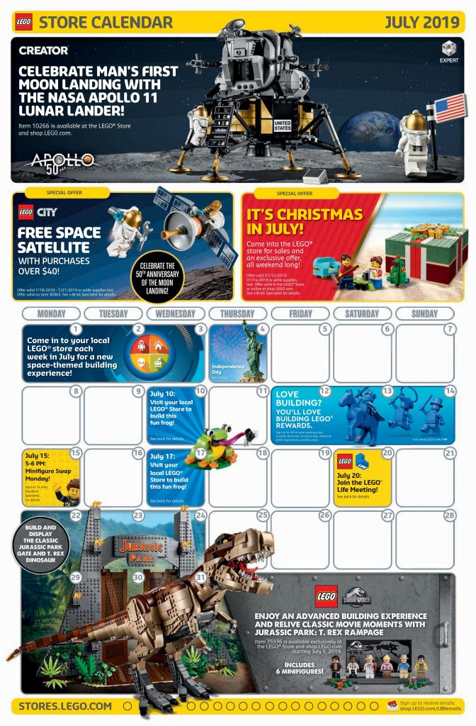 lego july 2019 store calendar promotions  u0026 events