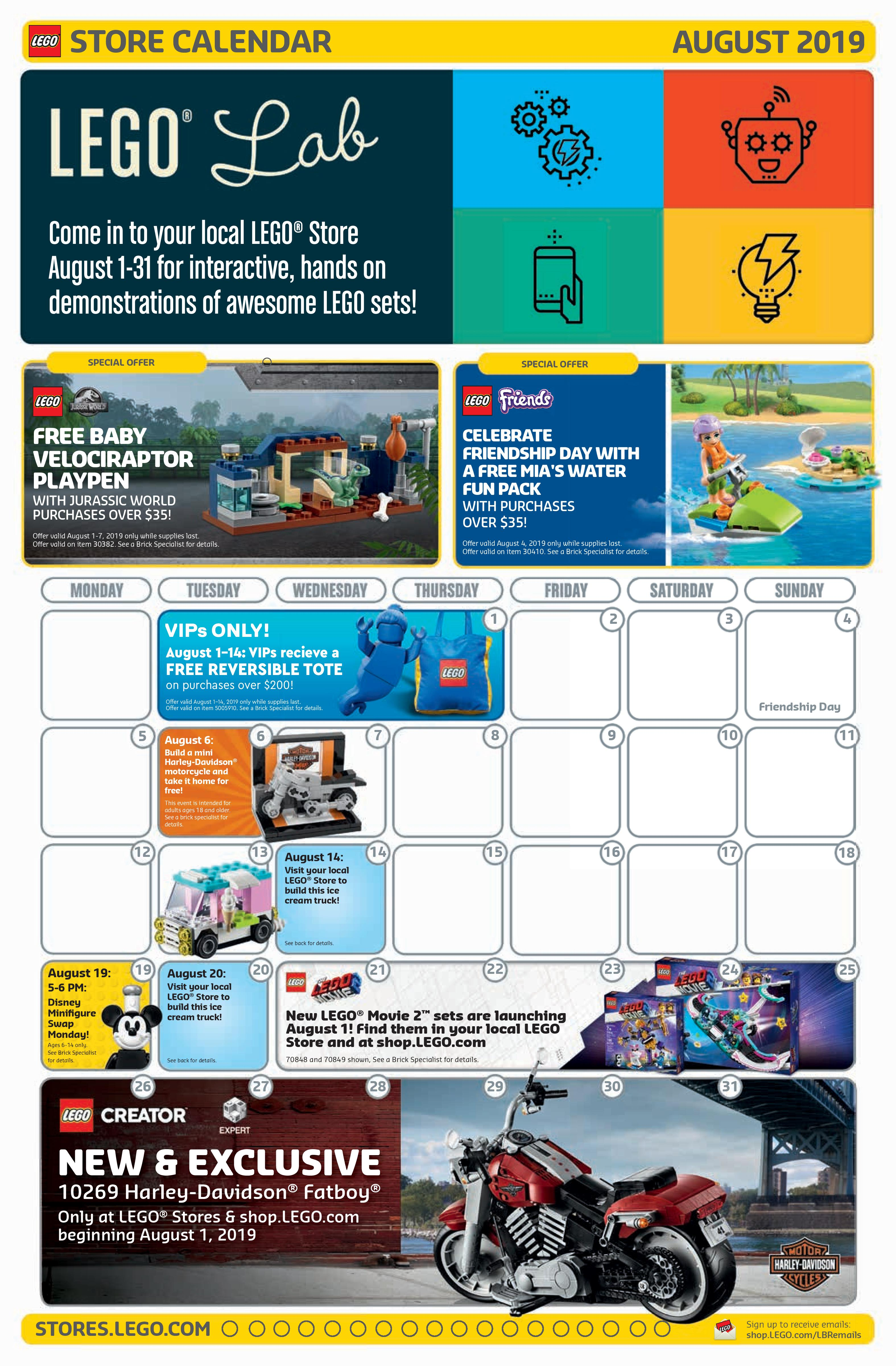 Lego August 2020 Calendar The Brick Fan's CV | ClearVoice Content Portfolio