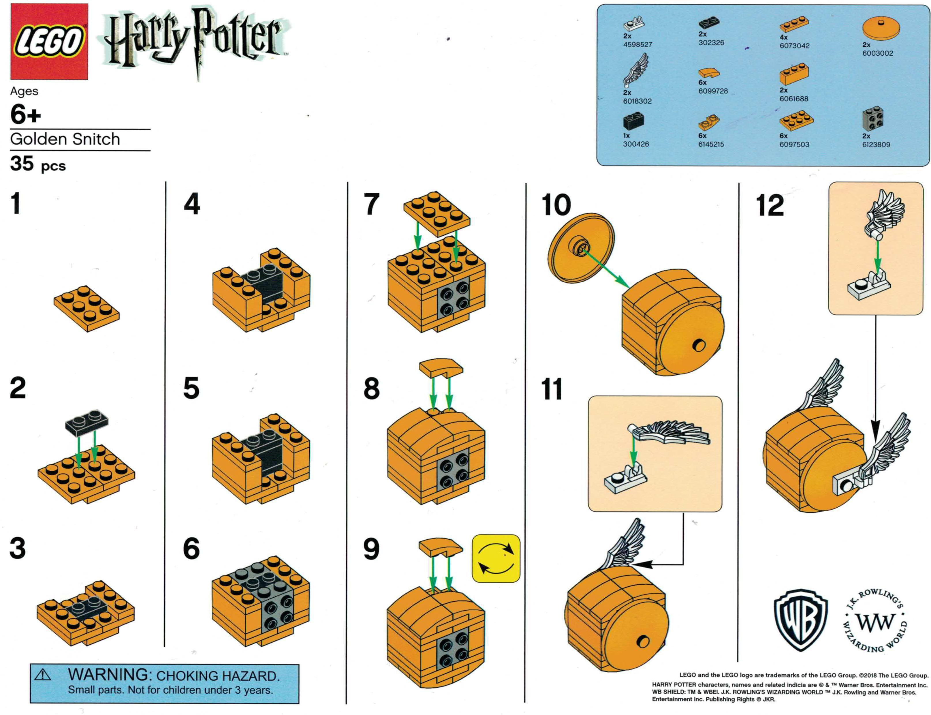 LEGO Harry Potter Golden Snitch Building Instructions - The