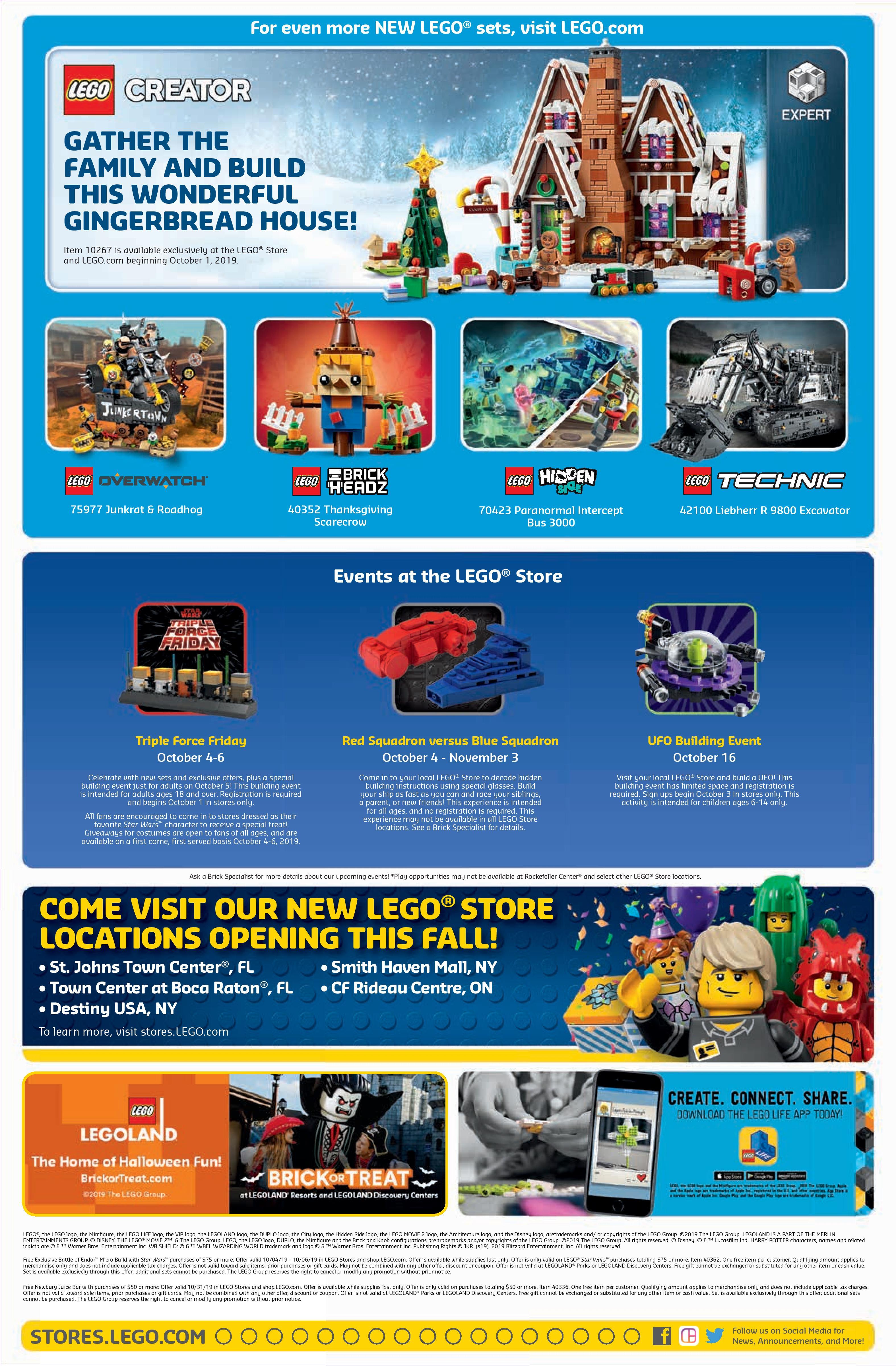Lego October 2022 Calendar.Lego October 2019 Store Calendar Promotions Events The Brick Fan