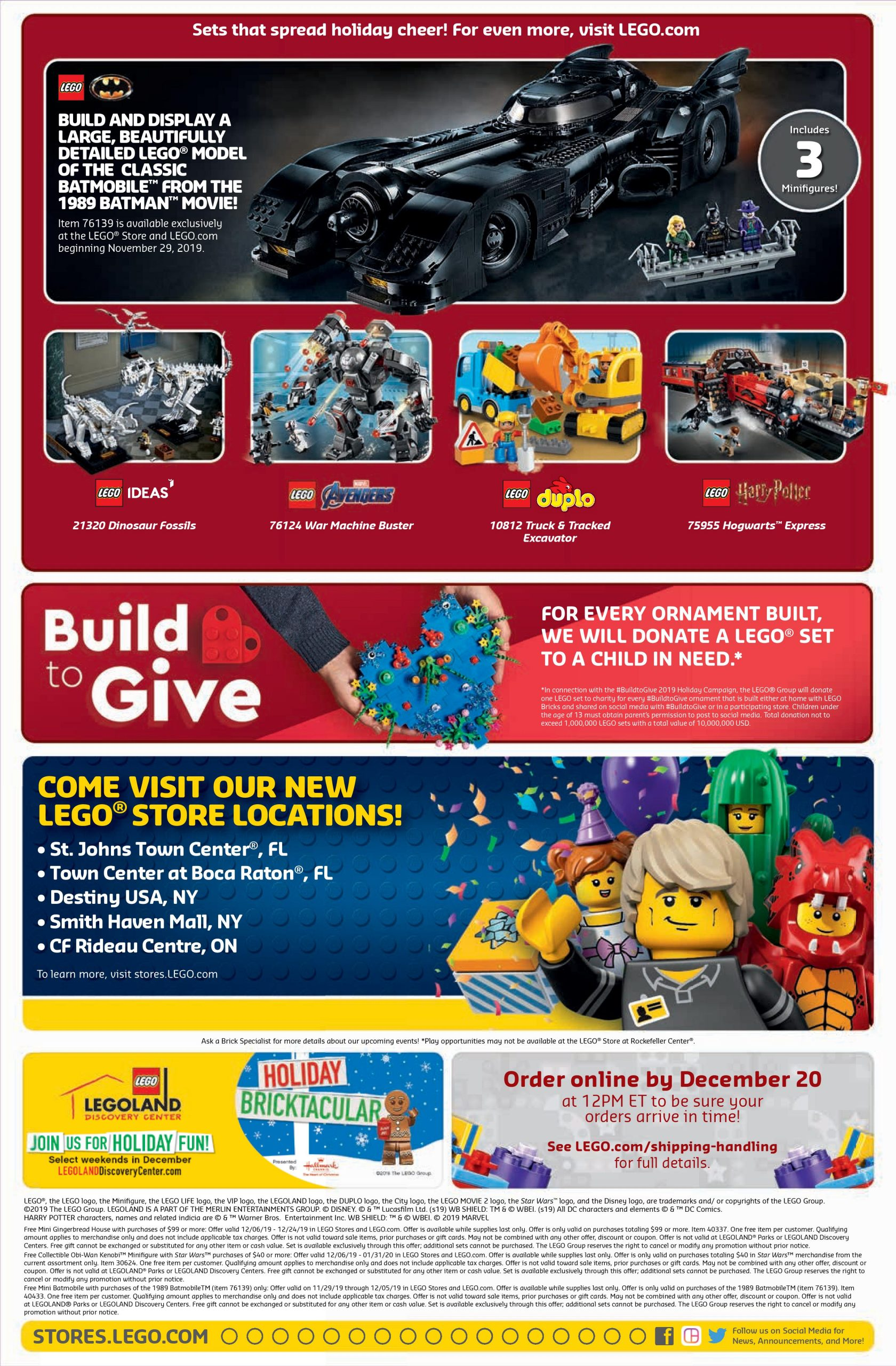 LEGO December 2019 Store Calendar Promotions & Events - The