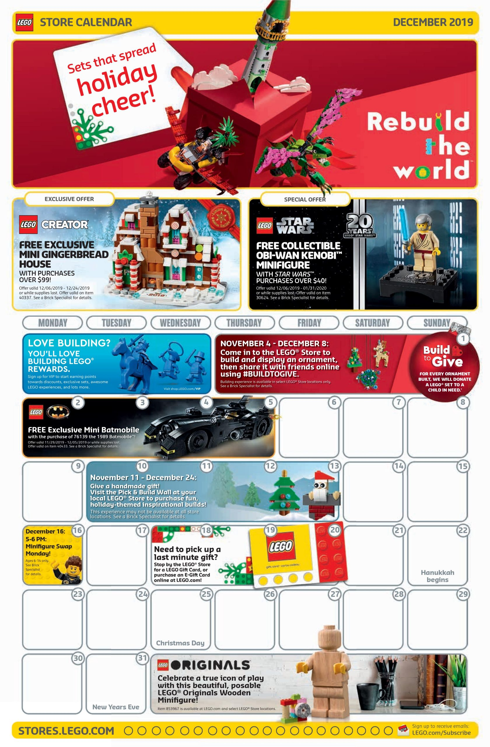 Lego Christmas Promotion 2020 LEGO December 2019 Store Calendar Promotions & Events   The Brick Fan