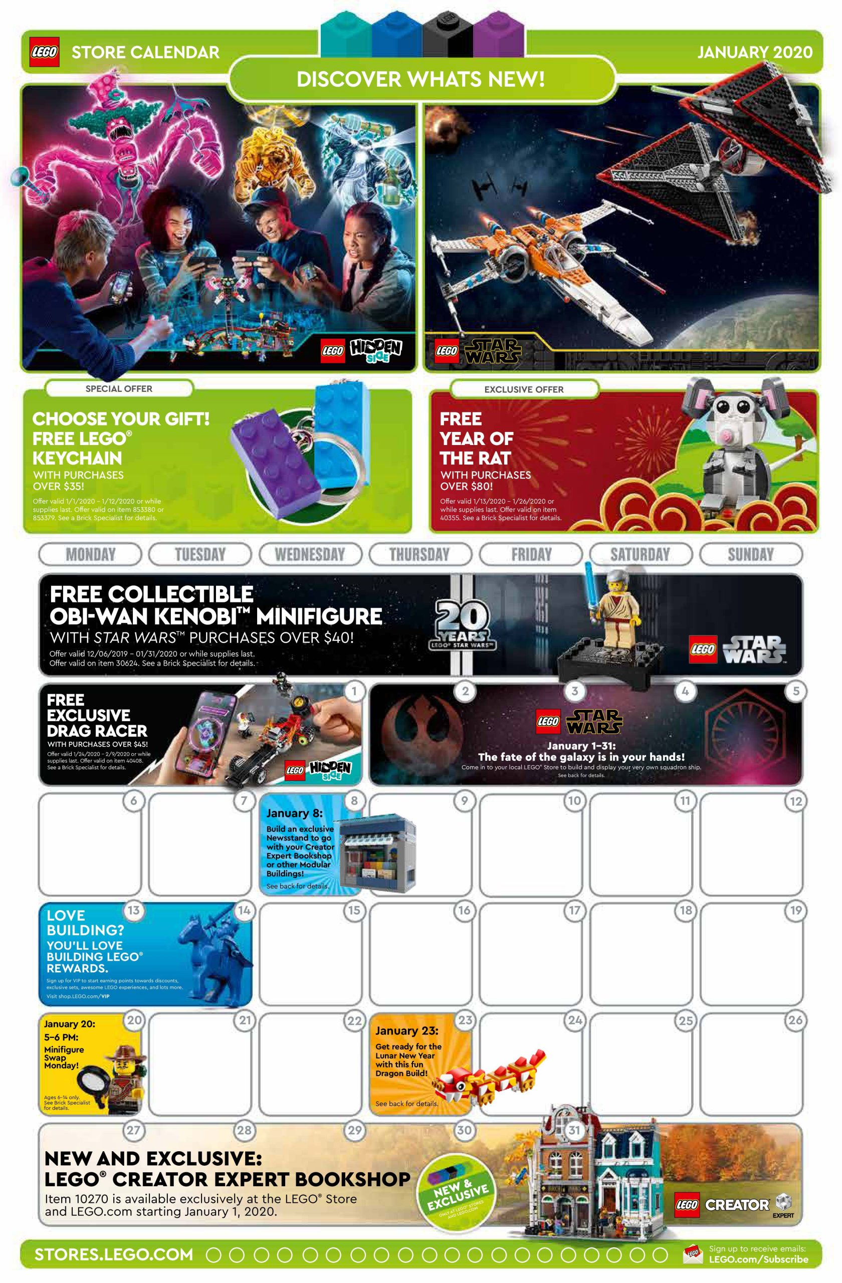 Lego Calendar May 2021 LEGO January 2020 Store Calendar Promotions & Events – The Brick Fan