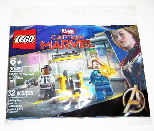 New LEGO 30453 Captain Marvel and Nick Fury Polybag