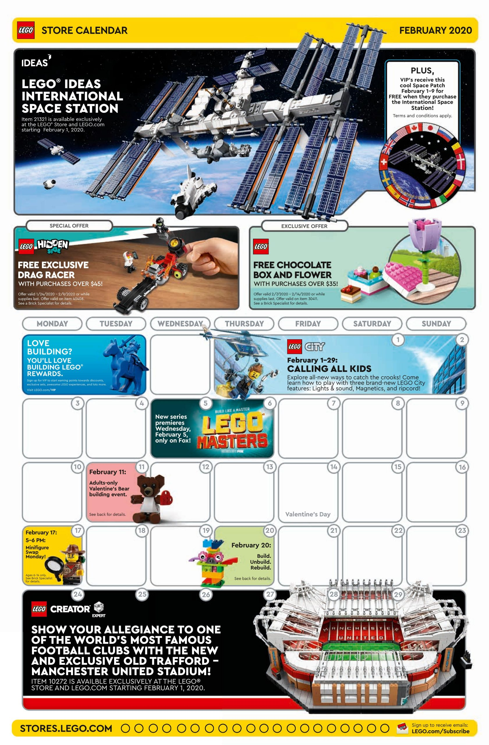 Lego Calendar April 2021 LEGO February 2020 Store Calendar Promotions & Events – The Brick Fan