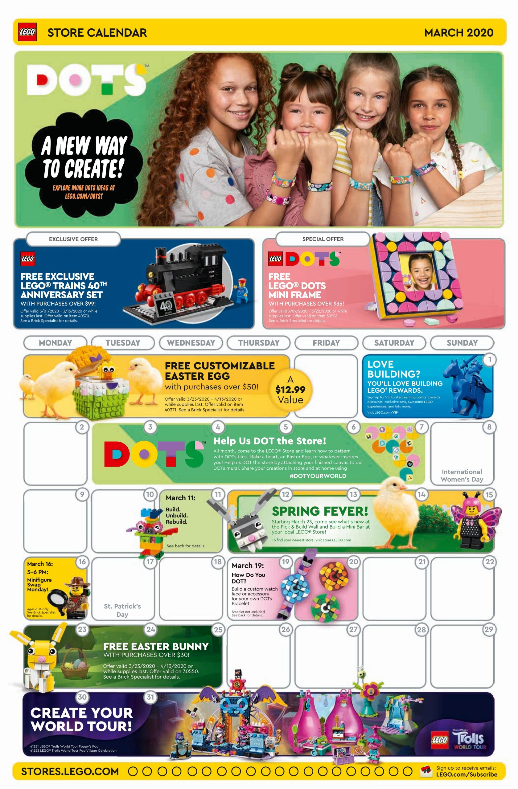 Lego Calendar April 2021 LEGO March 2020 Store Calendar Promotions & Events – The Brick Fan