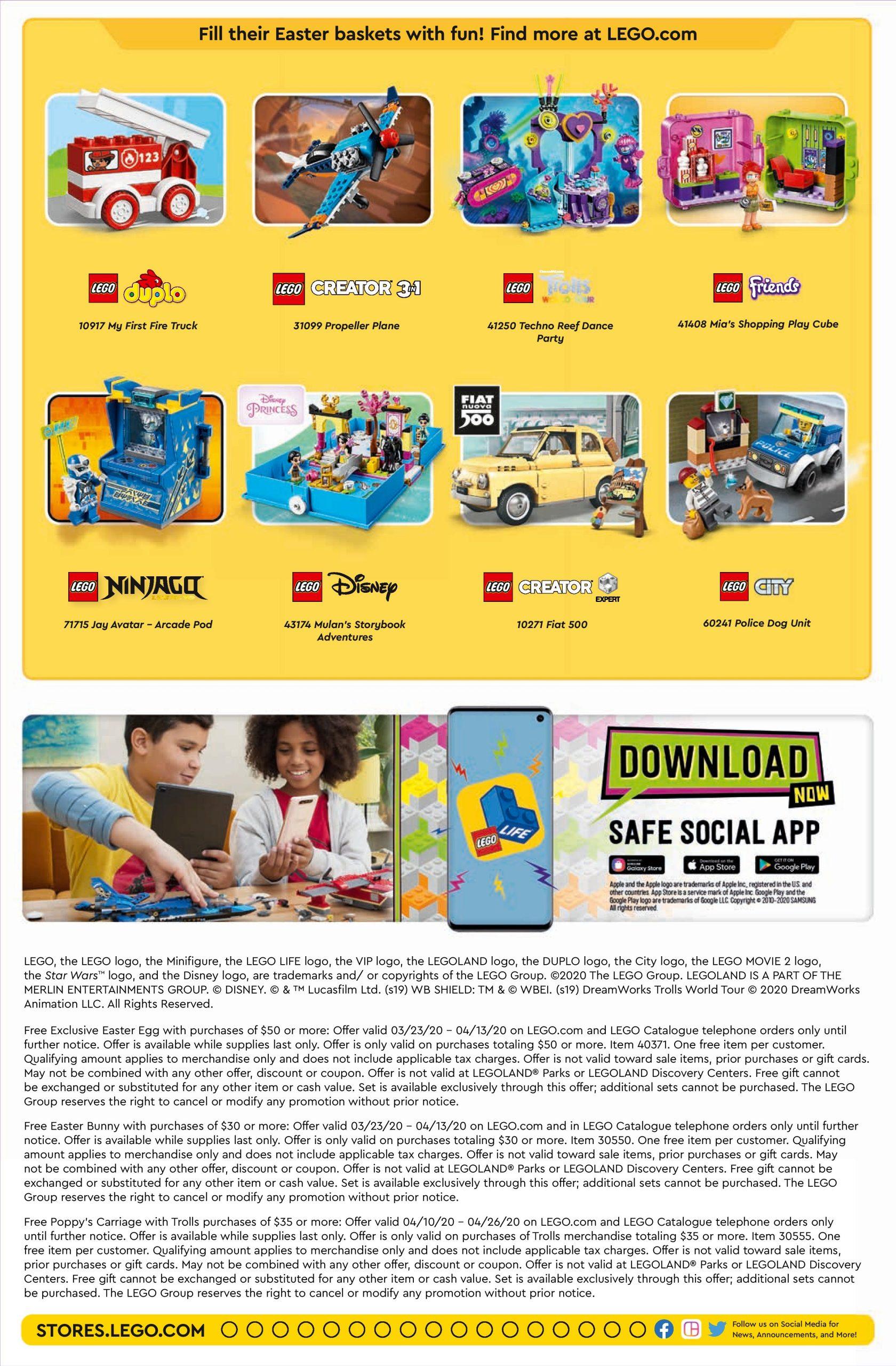 Lego April 2022 Calendar.Lego April 2020 Store Calendar Promotions Events The Brick Fan