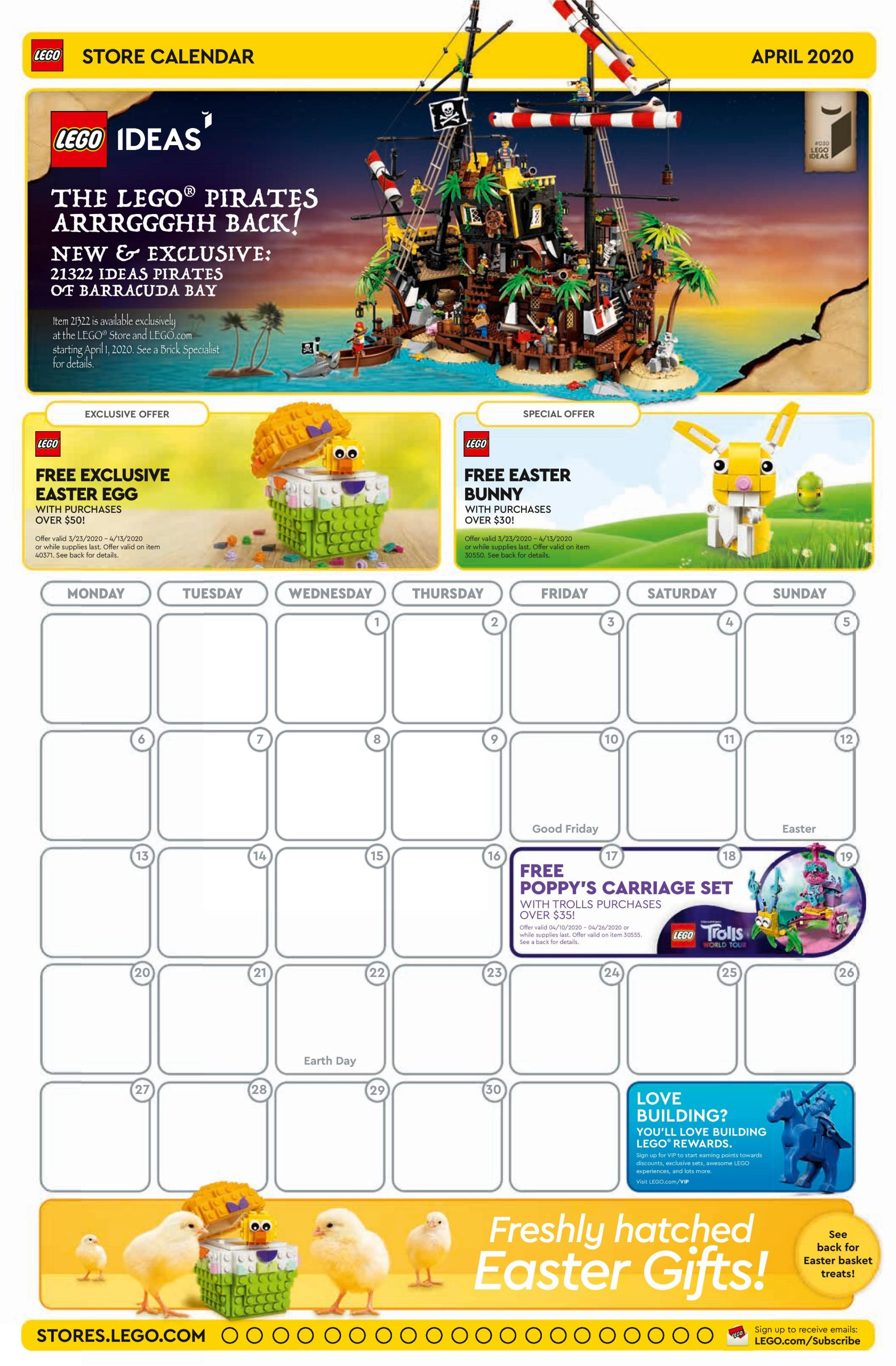 Lego Calendar April 2021 LEGO April 2020 Store Calendar Promotions & Events – The Brick Fan