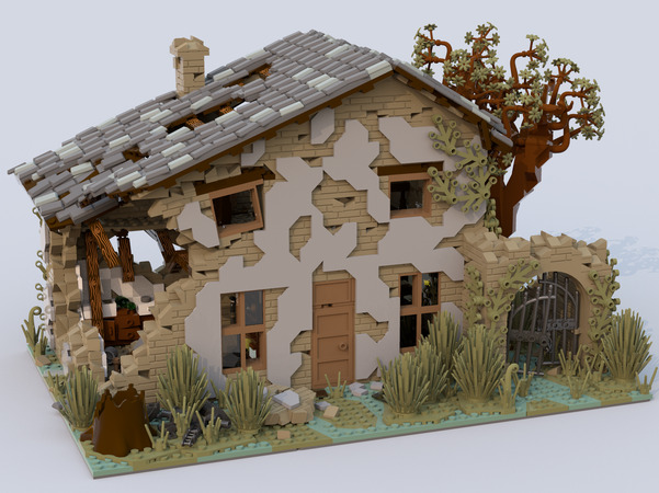 Lego Ideas Ruined House Achieves 10 000 Supporters The Brick Fan