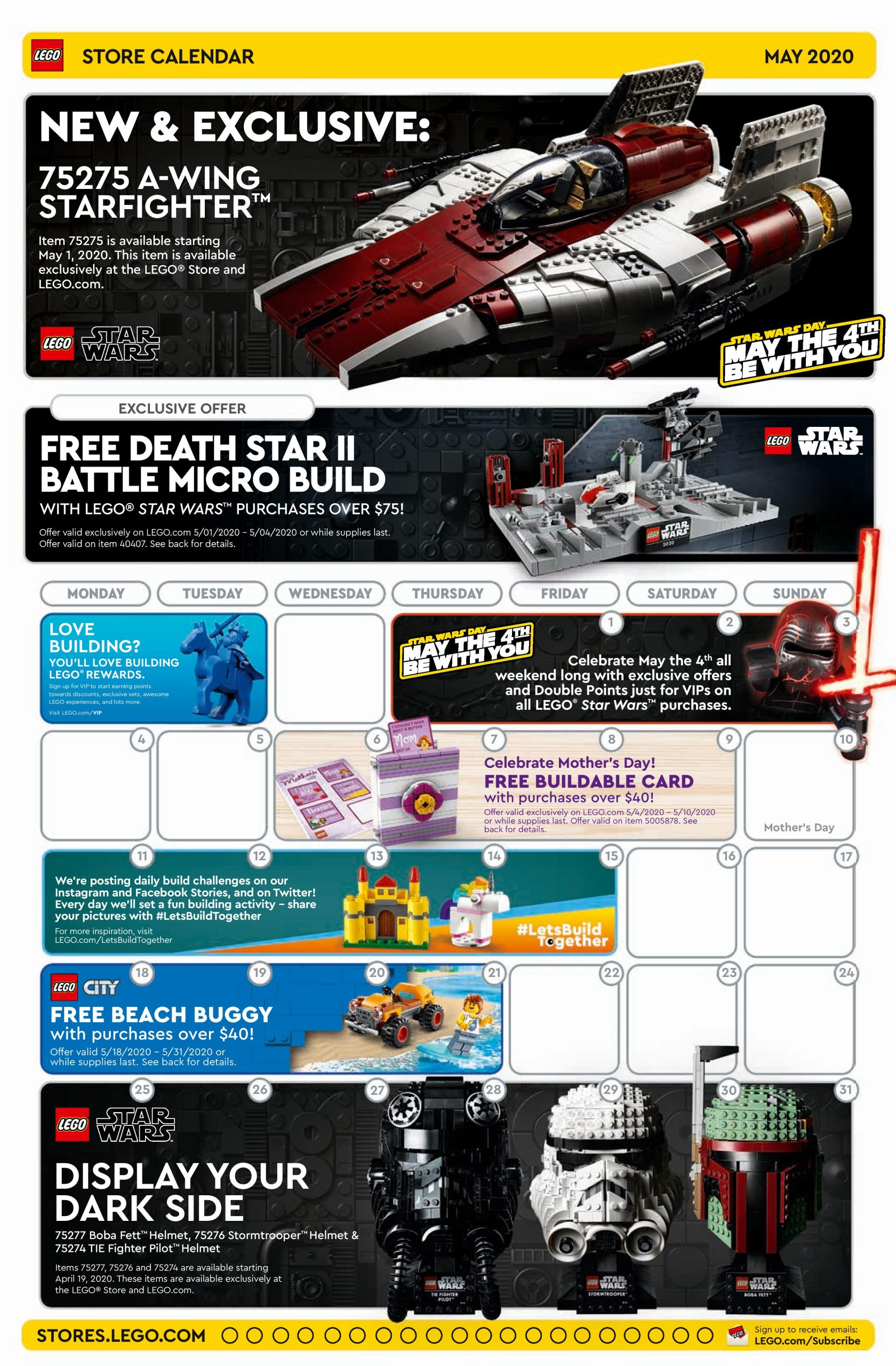 LEGO May 2020 Store Calendar Promotions & Events | The Brick Fan