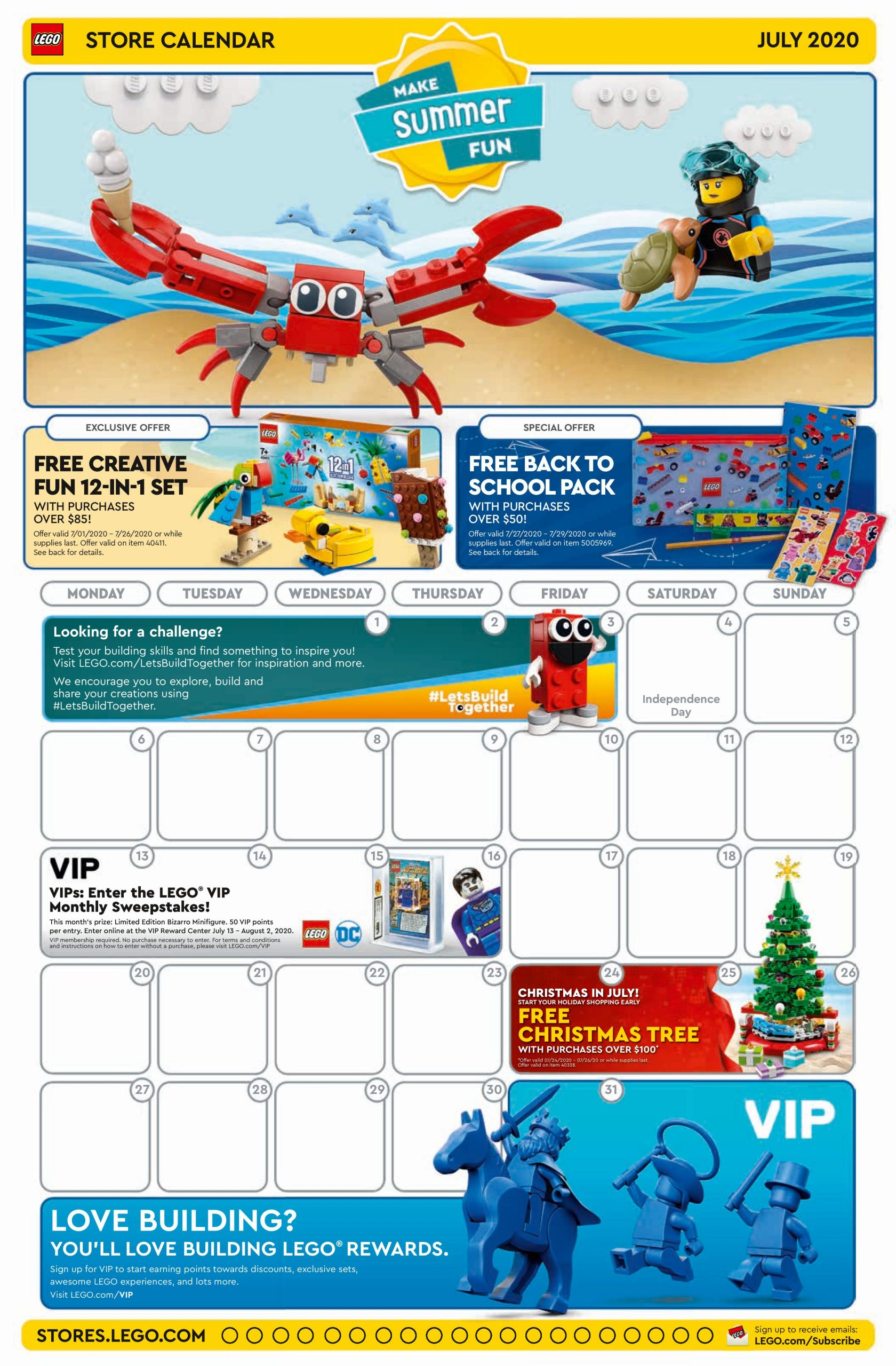LEGO July 2020 Store Calendar Promotions & Events   The Brick Fan