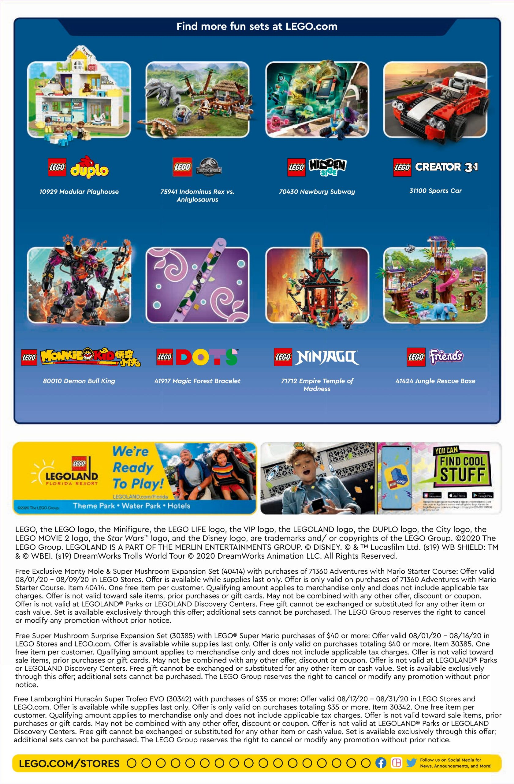 Lego August 2022 Calendar.Lego August 2020 Store Calendar Promotions Events The Brick Fan