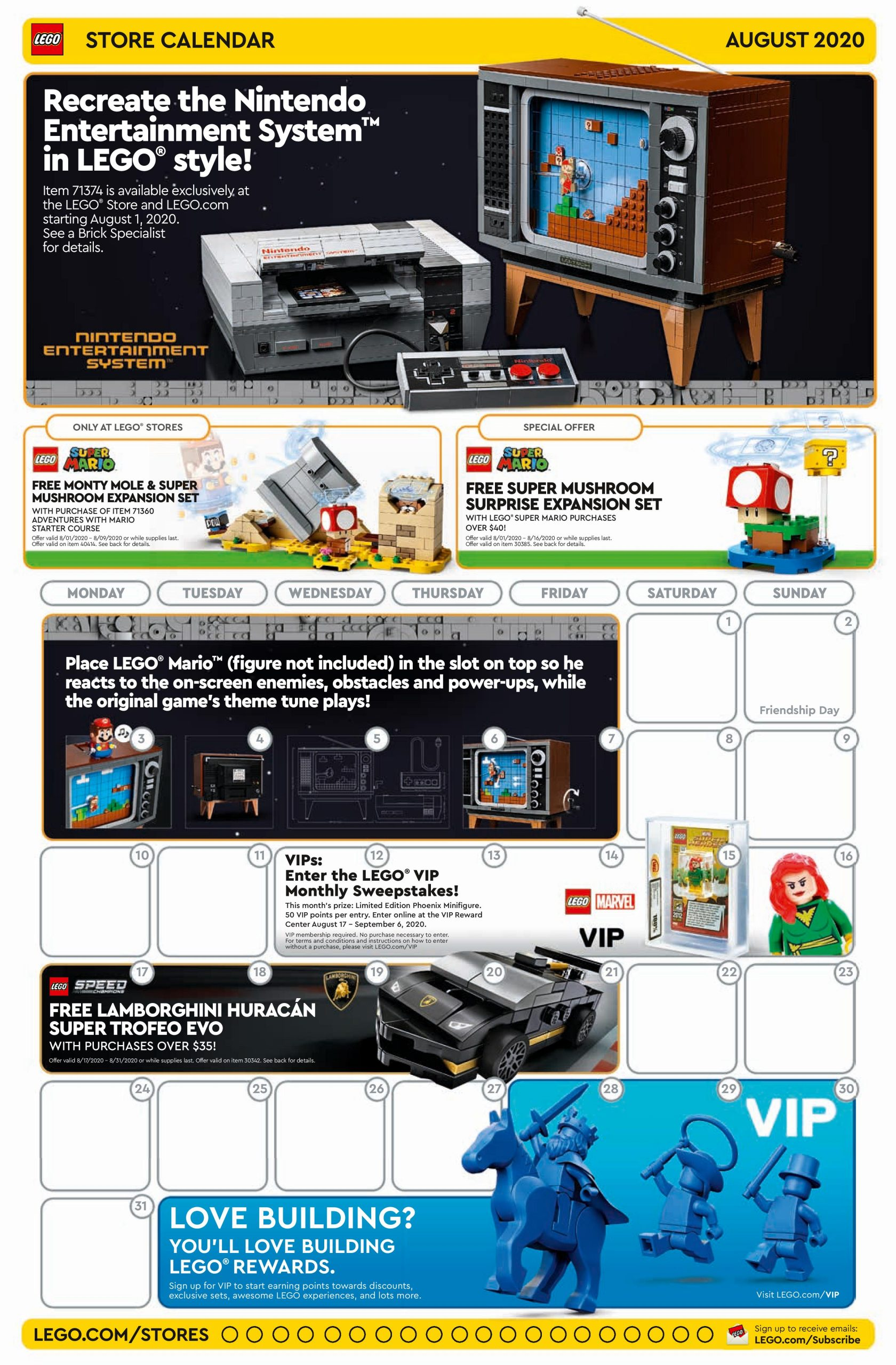 LEGO August 2020 Store Calendar Promotions & Events   The Brick Fan
