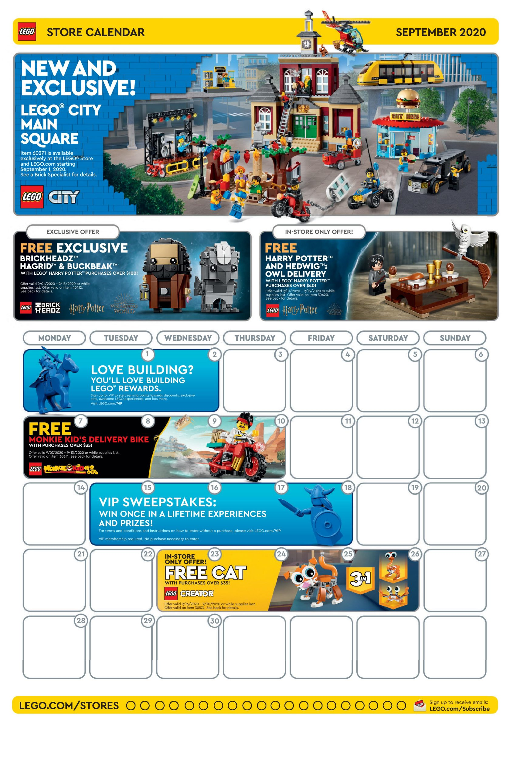 LEGO September 2020 Store Calendar Promotions & Events – The Brick Fan