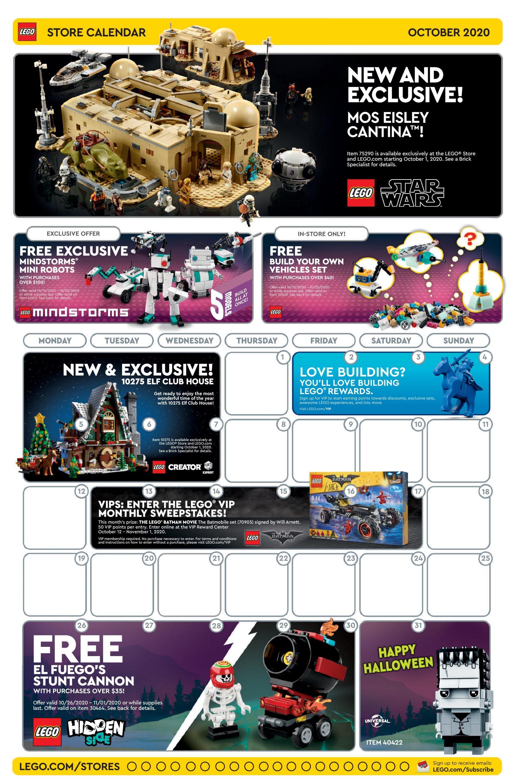 Lego October 2022 Calendar.Lego October 2020 Store Calendar Promotions Events The Brick Fan