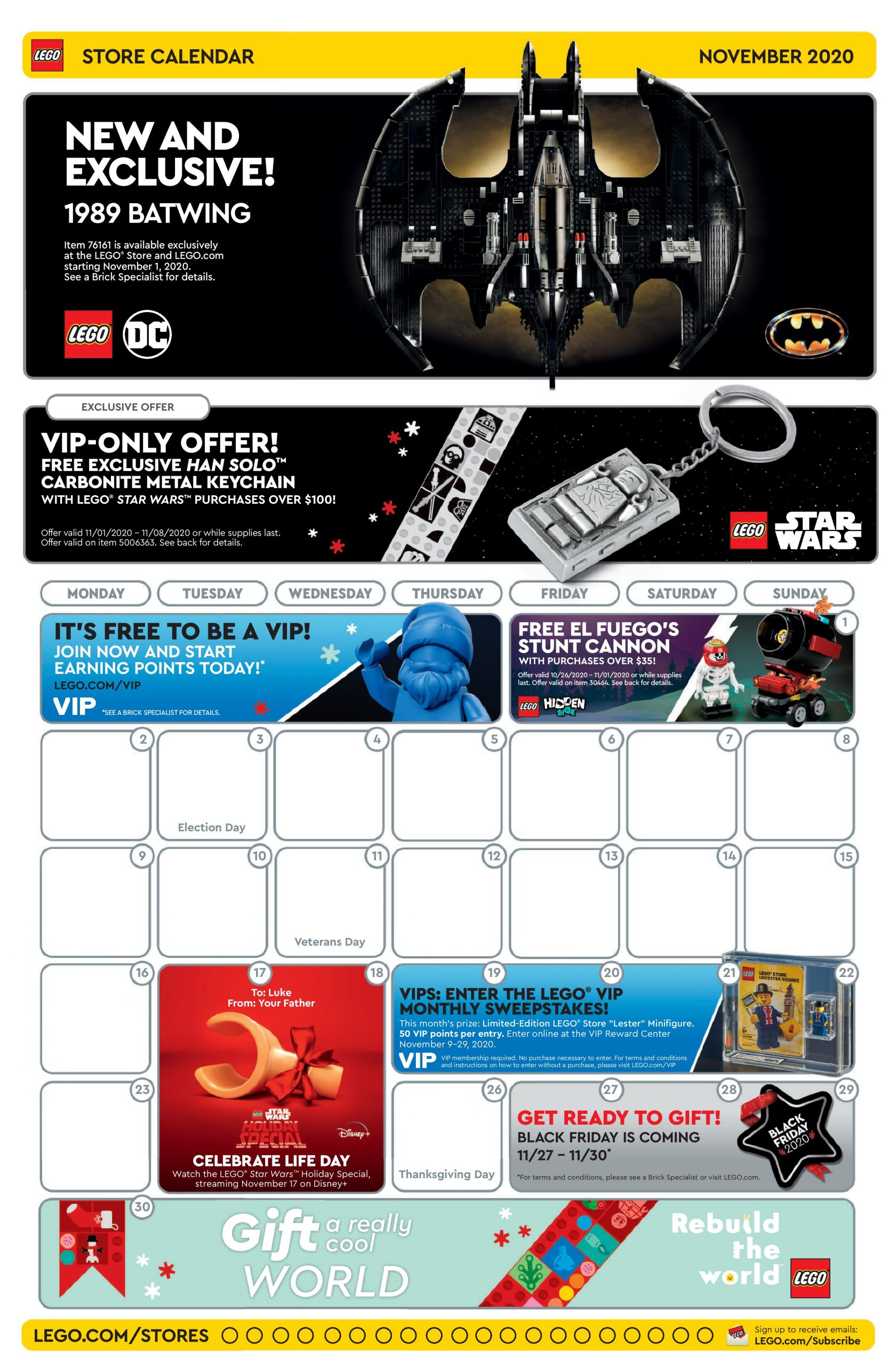 Lego November 2022 Calendar.Lego November 2020 Store Calendar Promotions Events The Brick Fan