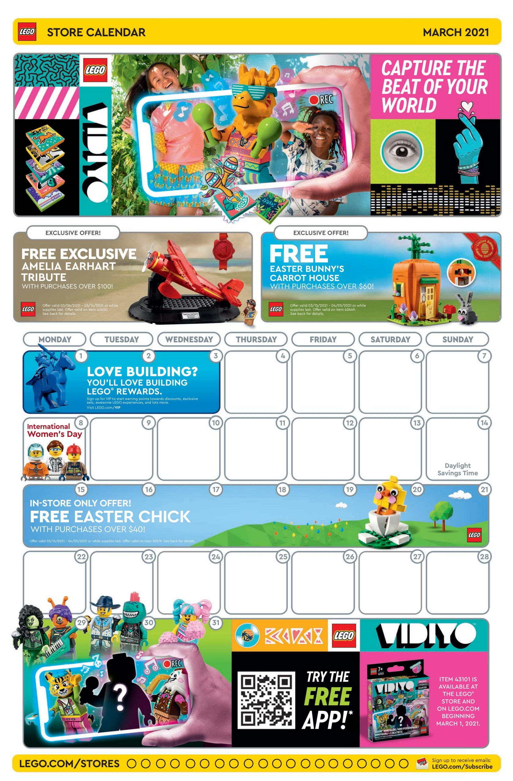 LEGO March 2021 Store Calendar Promotions & Events – The Brick Fan