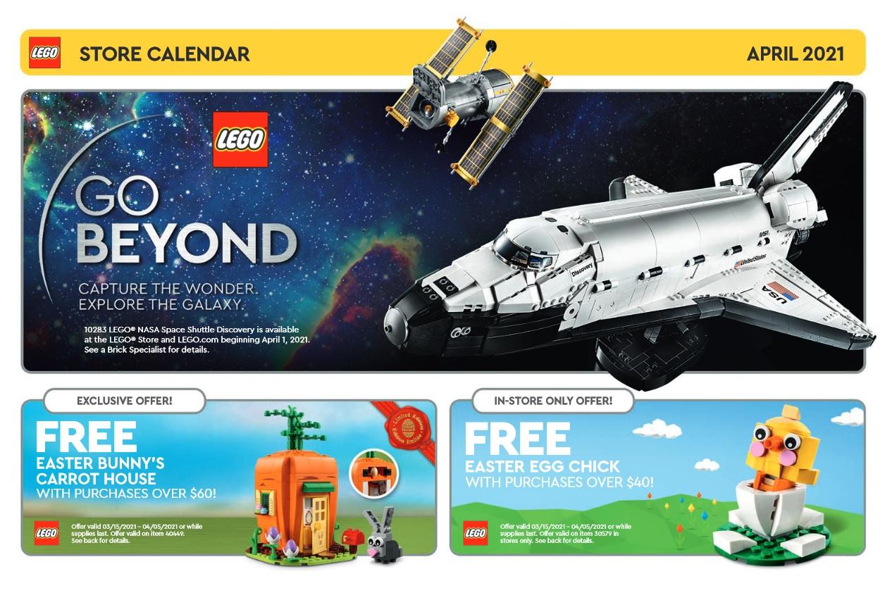 Lego April 2022 Calendar.Lego April 2021 Store Calendar Promotions Events The Brick Fan
